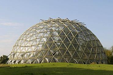 Domed greenhouse, Botanical Garden, Duesseldorf, North Rhine-Westphalia, Germany, Europe