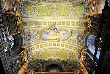 Interior, Grand Hall of the Austrian National Library, Josefsplatz, Vienna, Austria, Europe