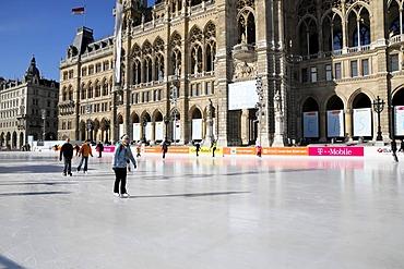 15th Eistraum ice skating rink at the new city hall, Vienna, Austria, Europe