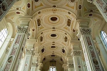 Church, interior, Schoental Abbey, Jagst Valley, Baden-Wuerttemberg, Germany, Europe
