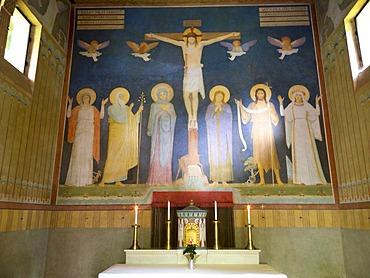 St. Maurus Chapel near Beuron, Obere Donau Nature Park, Baden-Wuerttemberg, Germany, Europe