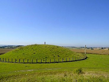Prehistoric prince's burial mounds near Hundersingen, Obere Donau Nature Park, Baden-Wuerttemberg, Germany
