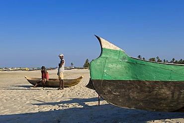 Fishing boat, Morondava, Madagascar, Africa
