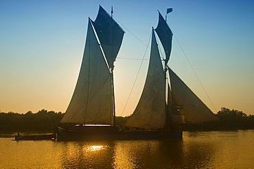 Sailing boat, Morondava, Madagascar, Africa