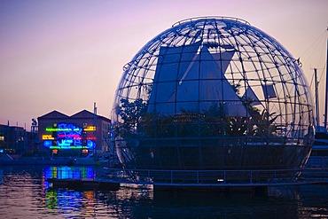 La Biosfera at the waterfront promenade, port, Genova, Genoa, Liguria, Italy, Europe, PublicGround