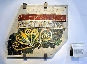 Mosaic fragments in opus sectile technique, Palazzo Massimo, National Museum of Rome, Lazio, Italy, Europe