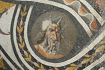 Roman mosaic in the Palazzo Massimo, National Museum of Rome, Lazio, Italy, Europe