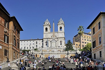 Spanish Steps and Church of Trinita dei Monti, Rome, Italy, Europe