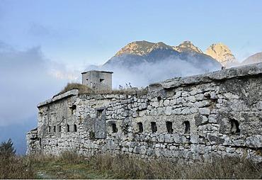 Fort or battery Predilsattel, built around 1900, Predilsattel, Italy, Europe