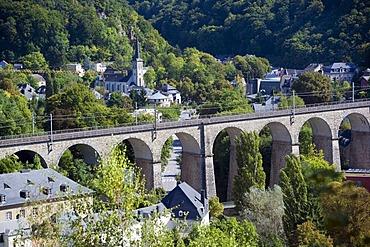 Petrusse Valley, Corniche, Alzette, Luxembourg, Europe