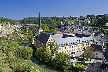 Petrusse Valley, lower part, Corniche, Alzette, Luxembourg, Europe