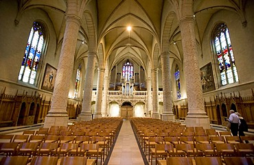 Interior shot, Notre Dame Cathedral, Luxembourg, Europe