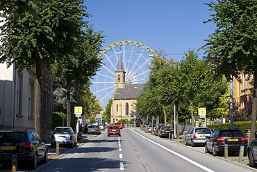 Fairground with a ferris wheel, Luxembourg, Europe
