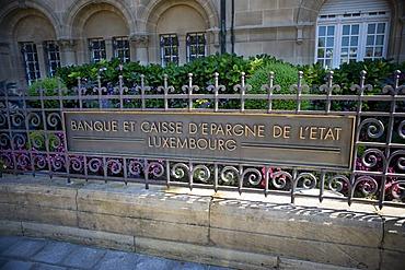 Banque et Caisse d'Epargne de l'Etat Luxembourg bank, Luxembourg, Europe