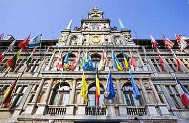Stadhuis city hall, Grote Markt square, Antwerp, Flanders, Belgium, Europe