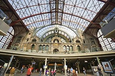 Antwerpen-Centraal central station, Antwerp, Flanders, Belgium, Europe