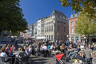 The market square, Aachen, North Rhine-Westphalia, Germany, Europe