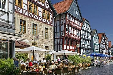 The marketplace of Fritzlar near Kassel, Hesse, Germany, Europe
