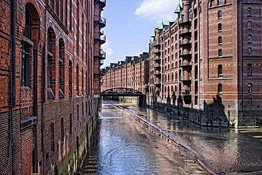 Speicherstadt, warehouse district, Hamburg, Germany, Europe