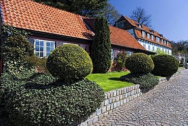 Villas on the Falkensteiner Strand, Blankenese district, Hamburg, Germany, Europe