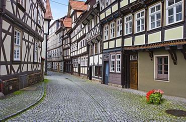 Street in Hannoversch Muenden, Hesse, Germany, Europe