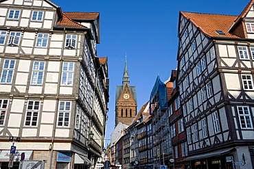Old town of Hanover with the Marktkirche church, Hanover, Lower Saxony, Germany, Europe