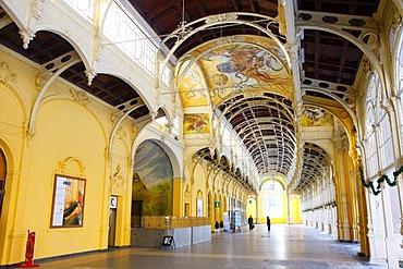 Cast-iron colonnade, Marianske Lazne, Czech Republic, Europe