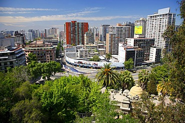 View of Santiago de Chile, Chile, South America