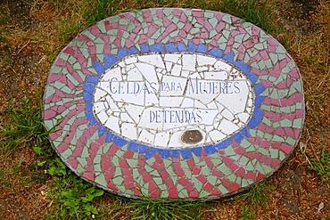 Name plaque, Villa Grimaldi, torture center, Santiago de Chile, Chile, South America
