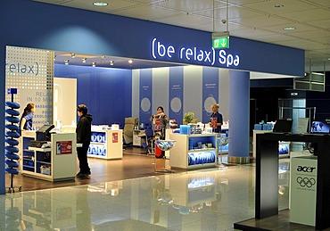 Wellness spa, duty-free zone, Franz Josef Strauss Airport Munich, Bavaria, Germany, Europe