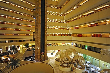 Interior, Hotel Doha Sheraton, Doha, Qatar, Persian Gulf, Middle East, Asia