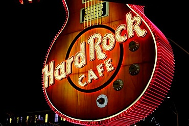 Guitar of the Hard Rock Cafe, detail, Paradise Road, Las Vegas, Nevada, USA