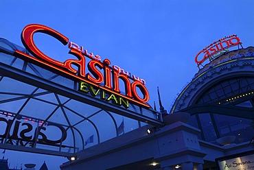 Casino Evian, Evian-les-Bains on Lake Geneva, Haute-Savoie, France, Europe