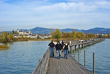 Lake Zurich, St. James' Way, Rapperswil, Sankt Gallen, Switzerland, Europe