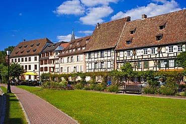 Quai Anselmann, Wissembourg, Vosges du Nord nature park, Vosges mountains, Alsace, France, Europe