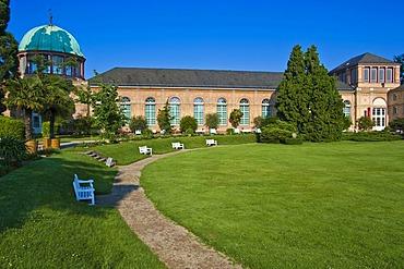 Orangery in the Botanical Garden, castle gardens, Karlsruhe, Baden-Wuerttemberg, Germany, Europe