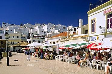 Street restaurants, Albufeira, Algarve, Portugal, Europe