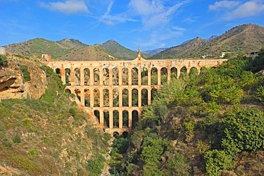 Puente de las Aguilas, Roman aqueduct, Nerja, La Axarquia, Malaga province, Andalusia, Spain, Europe