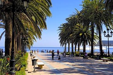Balcon de Europa, Balcony of Europe, Nerja, Costa del Sol, Malaga province, Andalusia, Spain, Europe
