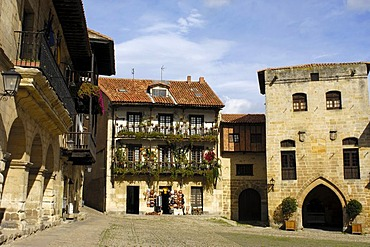 Ramon Pelayo Square, Santillana del Mar, Cantabria, Spain, Europe