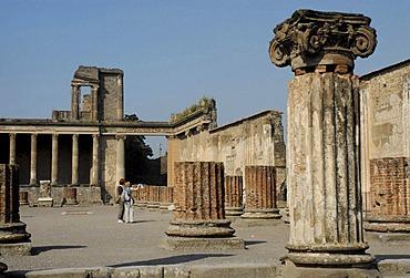 The Basilica in Pompeii, Italy, Europe