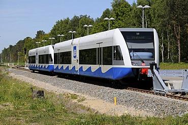 Modern railway Swinoujscie - Stralsund, Poland, Europe