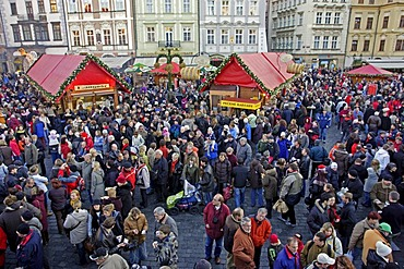 Christmas Market, Old Town Square, Prague, Czech Republic, Europe