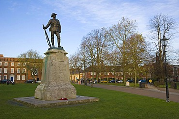 Kings Royal Rifle Corps war memorial in the grounds of Winchester Cathedral, Winchester, Hampshire, England, United Kingdom, Europe