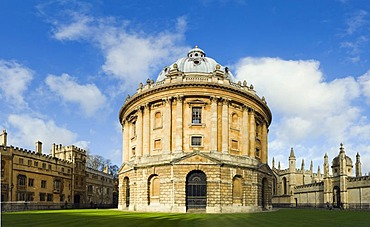 Panorama of Radcliffe Square with Radcliffe Camera, Oxford, Oxfordshire, England, United Kingdom, Europe