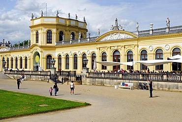 Orangery, baroque castle with museum and park on Karlswiese, Karlsaue, Kassel, Hesse, Germany, Europe