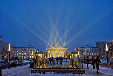 New Years Eve 2009 at the Brandenburg Gate, Berlin, Germany, Europe