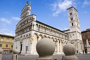 Church San Michele in Foro, Lucca, Tuscany, Italy, Europe
