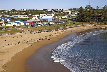 Beach and town of Port Campbell, Victoria, Australia