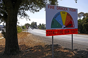 Roadside country fire gauge, Victoria, Australia